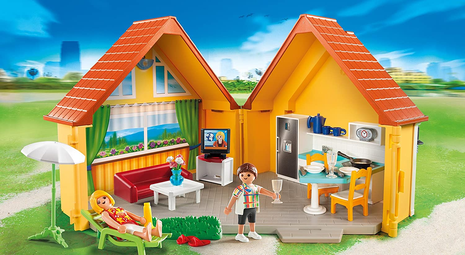 playmobil 6020 summer fun country house ebay. Black Bedroom Furniture Sets. Home Design Ideas