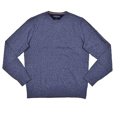 a2e264ce9 Tommy Hilfiger Mens Cotton Silk Cashmere Sweater (S, Blue) at Amazon Men's  Clothing store: