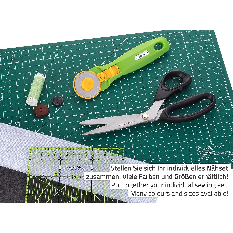Stoffschere Guss /& Mason Extra Scharfe Schneiderschere in Schwarz 23cm Pink und T/ürkis