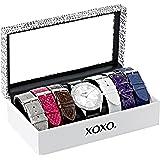 XOXO Women's XO9068 Analog-Display Quartz Watch with Interchangeable Bands