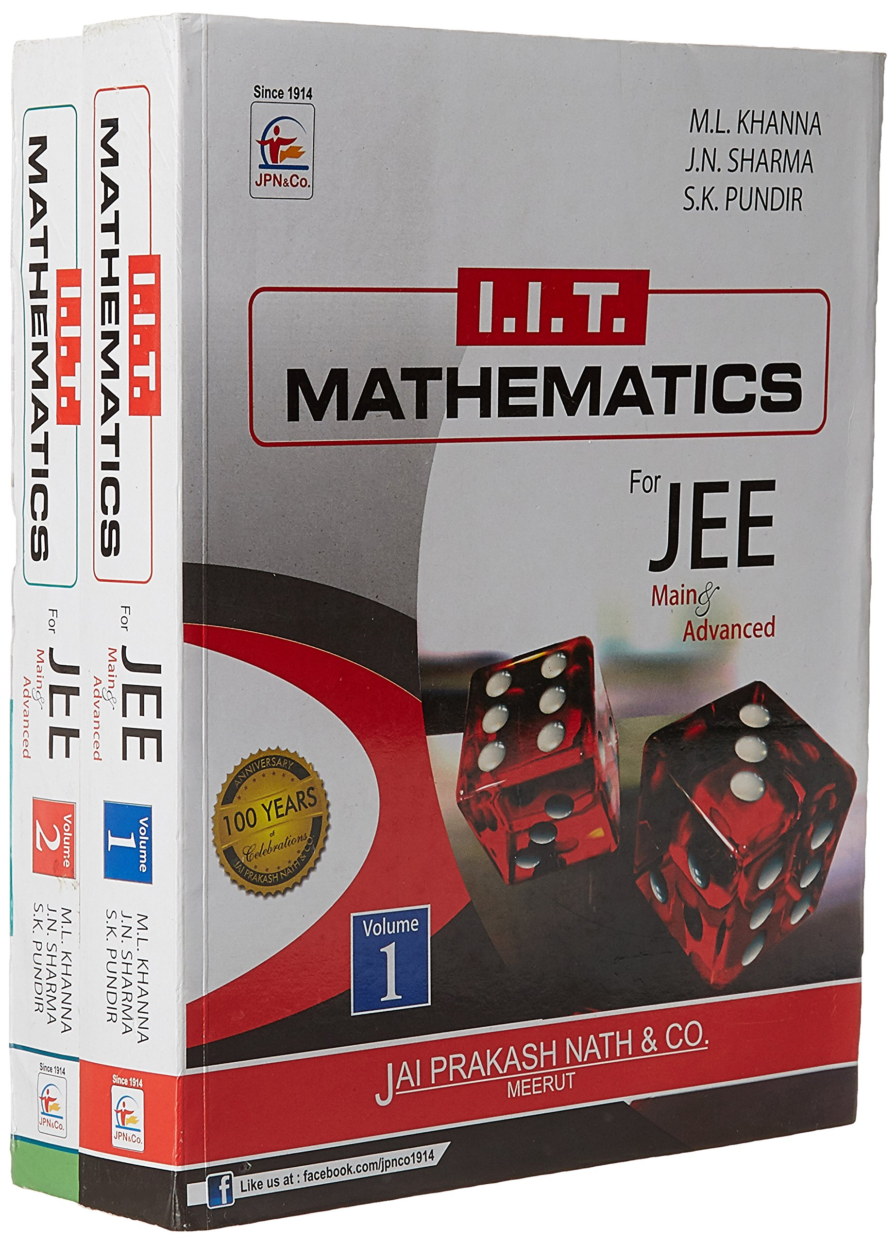 Iit mathematics for jee main advanced set of 2 volumes paperback iit mathematics for jee main advanced set of 2 volumes paperback amazon na books fandeluxe Images