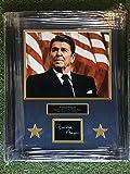 40th President Ronald Reagan Custom Framed Photo