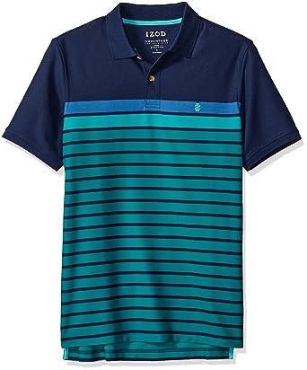 530d856d IZOD Men's Advantage Performance Stripe Polo at Amazon Men's Clothing store: