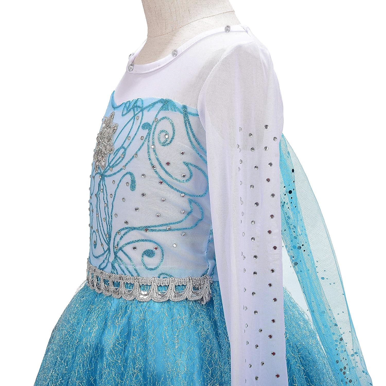 Dressy Daisy Girls Frozen Princess Elsa Dress Up Costumes Party Dresses Long Train