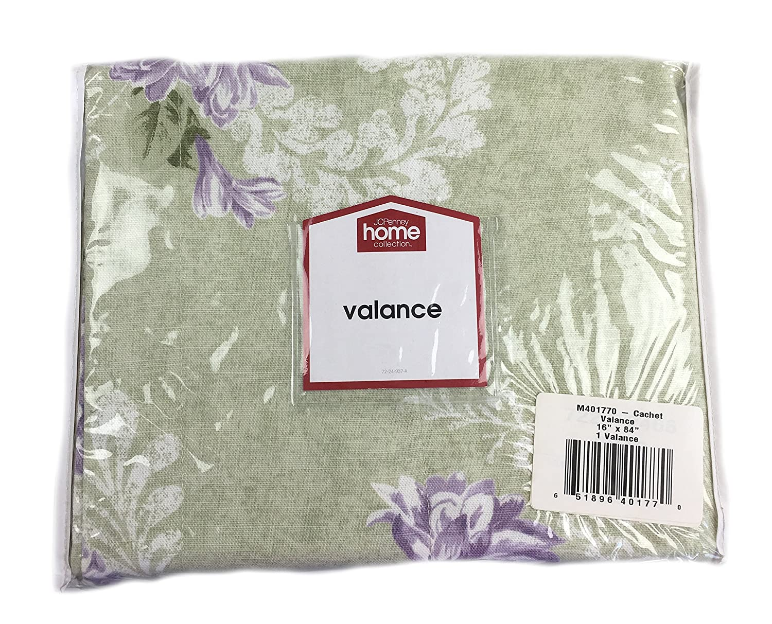 JCPenney Cachet Valance, Light Green w/Floral (16x84 in.)