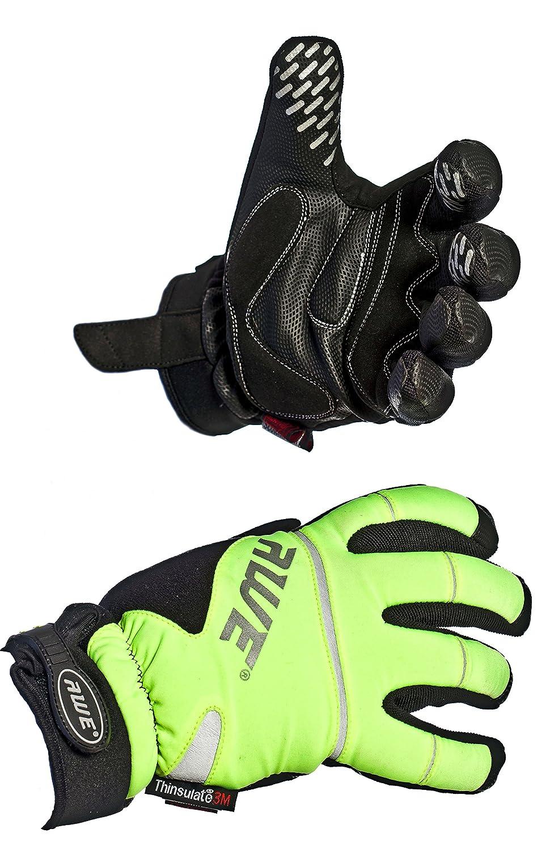 AWE/® AWEVizTM 3M Scotchlite Thinsulate Gants dhiver de Haute visibilit/é Neon L