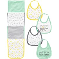 Simple Joys by Carter's Baby 8-Pack Burp Cloth and Bib Set