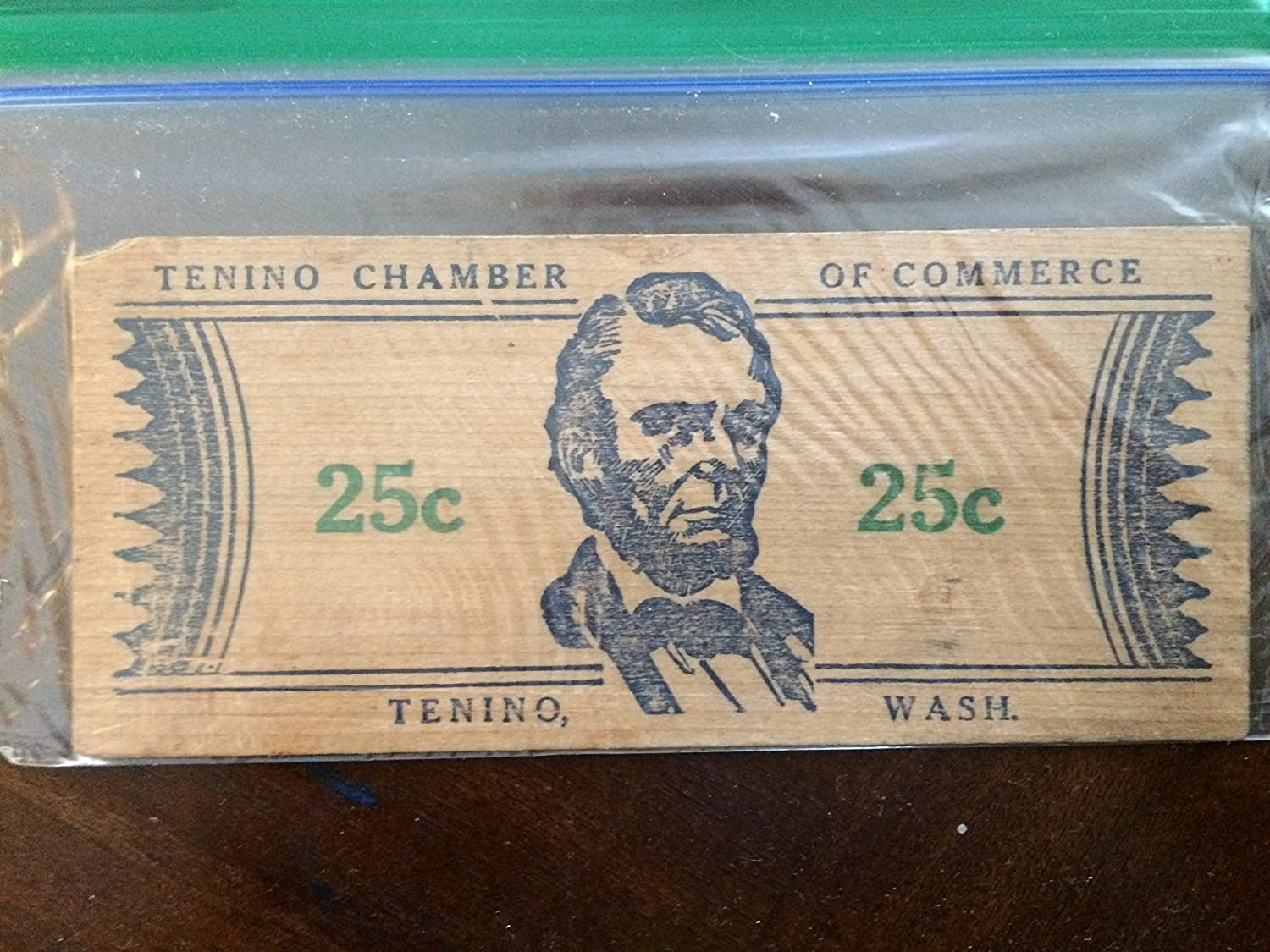 Amazoncom Tenino Wooden Money Collectable Wooden Money From 1933