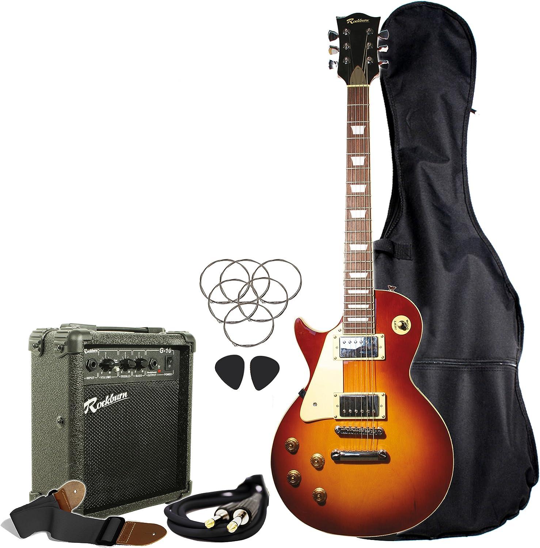Rockburn LP2-TS-LH-PK LP Style - Guitarra eléctrica para zurdos, color sunburst: Amazon.es: Instrumentos musicales