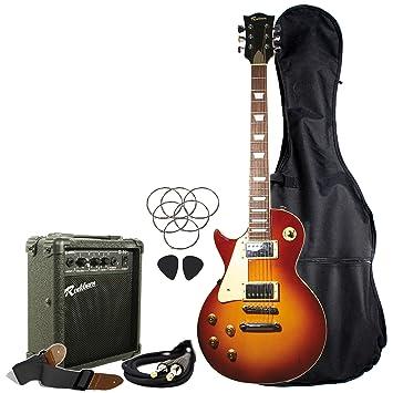 Rockburn LP2-TS-LH-PK LP Style - Guitarra eléctrica para zurdos,