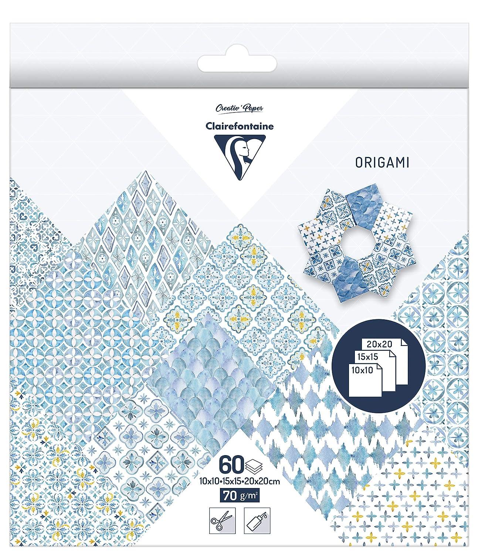 1 Pack Faultier 15 x 15cm 70g Clairefontaine 95352C Pack mit 60 Blatt Origamipapier