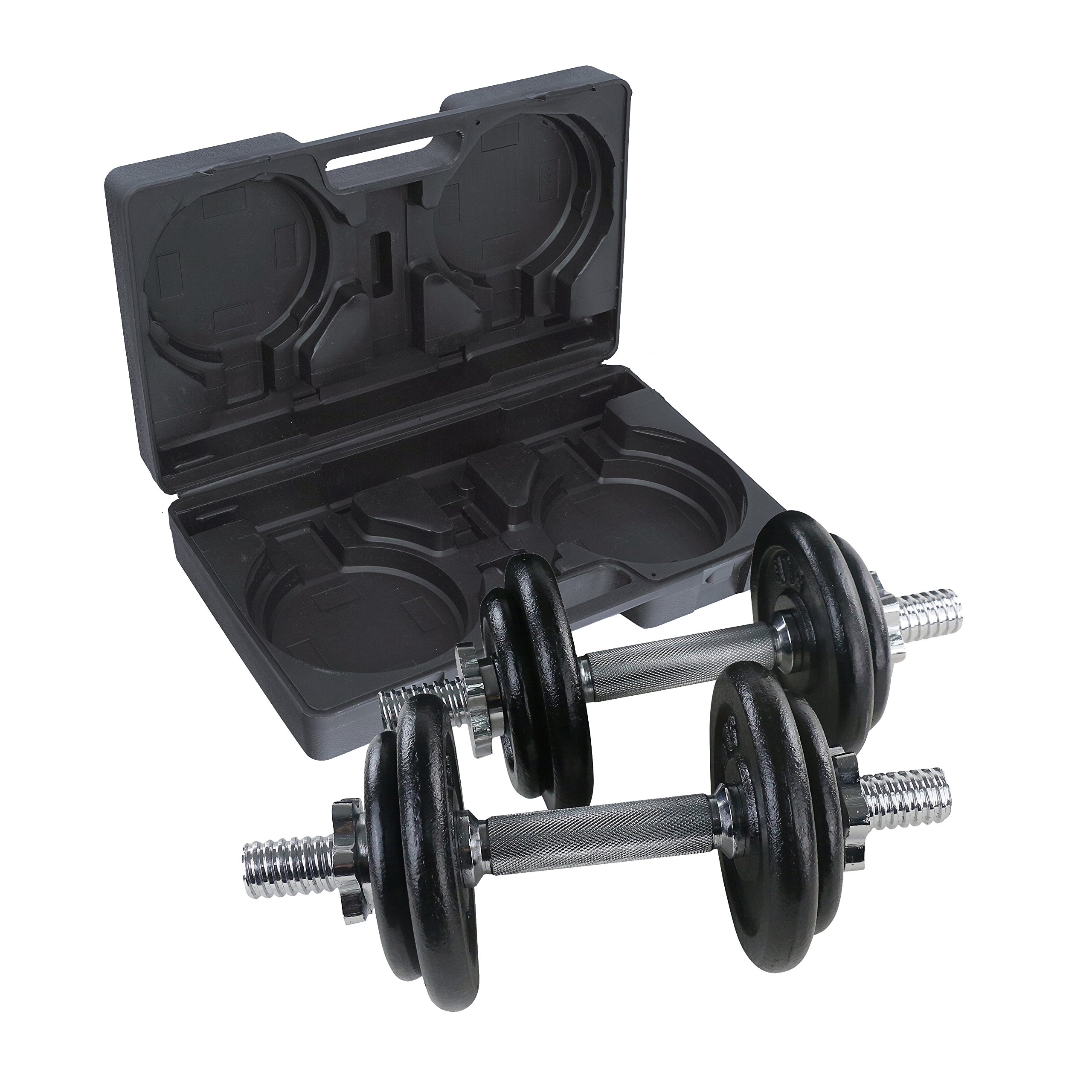 Maha Fitness 40 LB. Adjustable Neoprene Coated Dumbbell Set - Workout Weights for Home Training