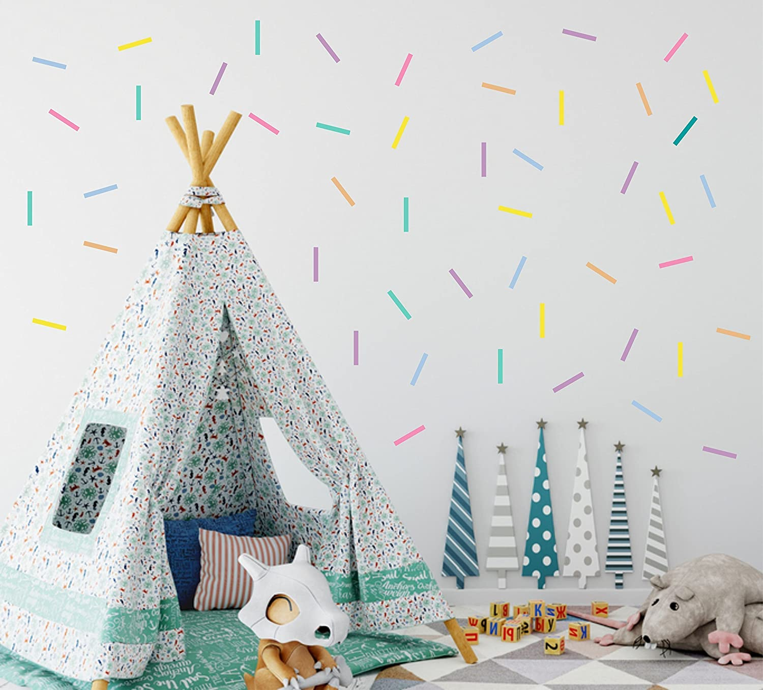 Pastel Confetti Wall Decals (0.4 x 3