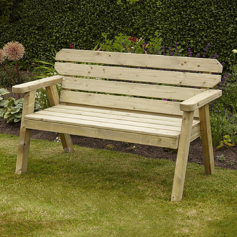 Exmouth 2 plazas banco de jardín de madera tratada a presión, 4 ...