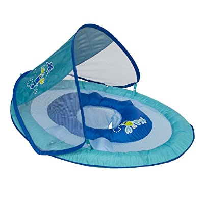 Swimways Baby Spring Float Sun Canopy - Blue Lobster: Toys & Games
