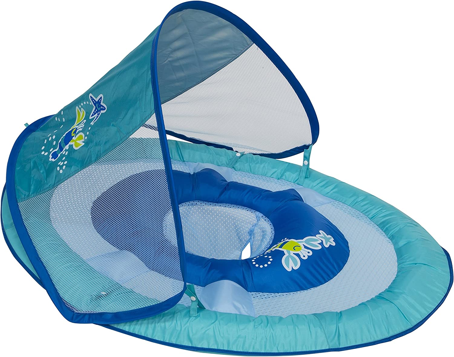 Swimways Baby Spring Float Sun Canopy - Blue Lobster