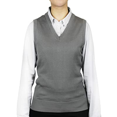 Blue Ocean Ladies Classic Sweater Vest at Women's Clothing store