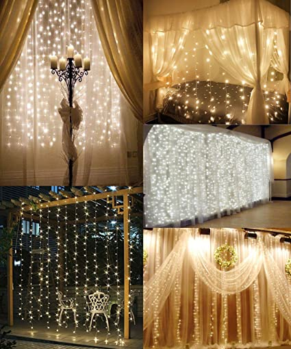 BrightCasa String Lights Curtain by for Valentine's Day Decoration, Christmas  Lights, Wedding Party, - Amazon.com : BrightCasa String Lights Curtain By For Valentine's Day