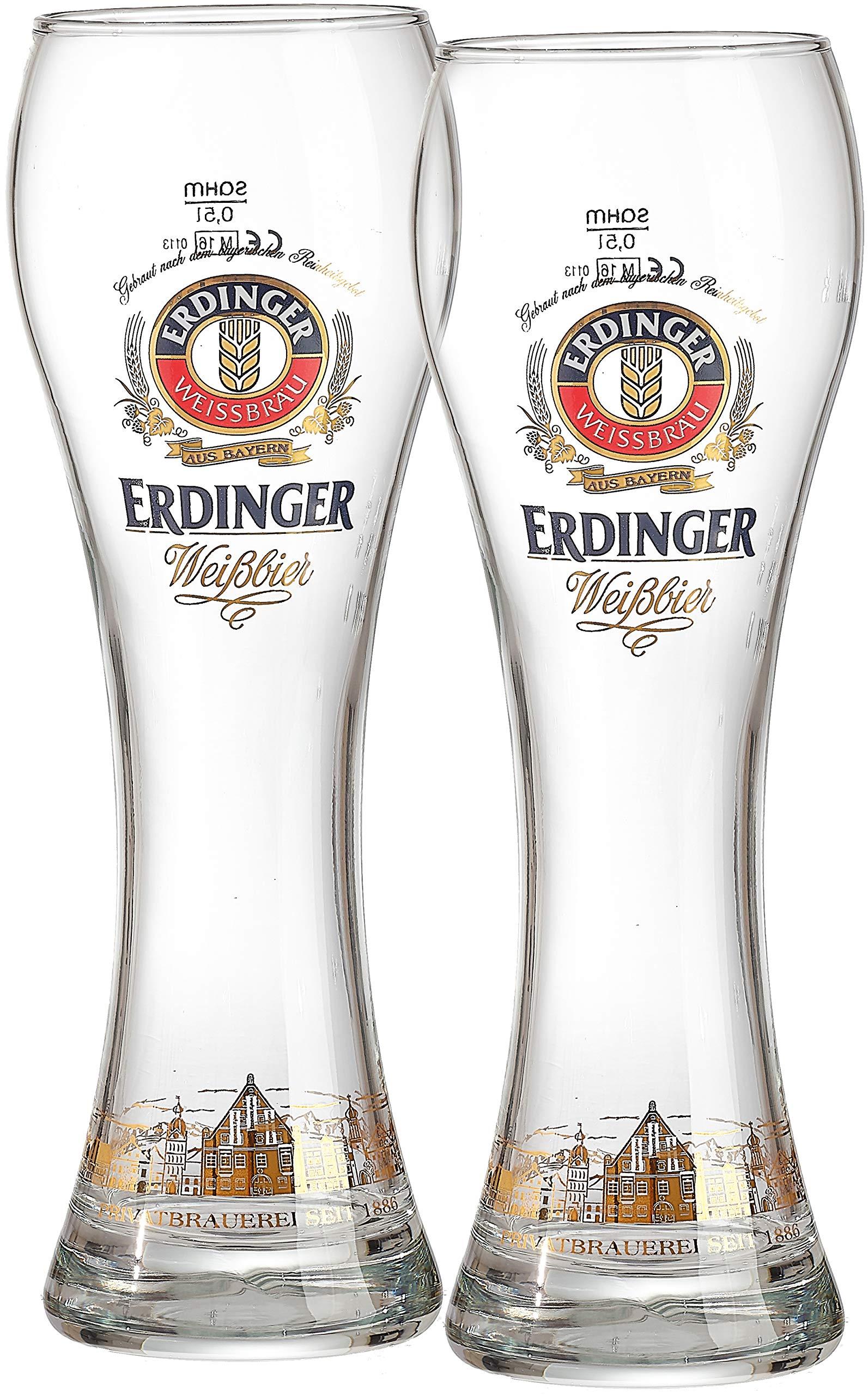 Wheat Beer Glasses Erdinger 0.5 L Set of 2