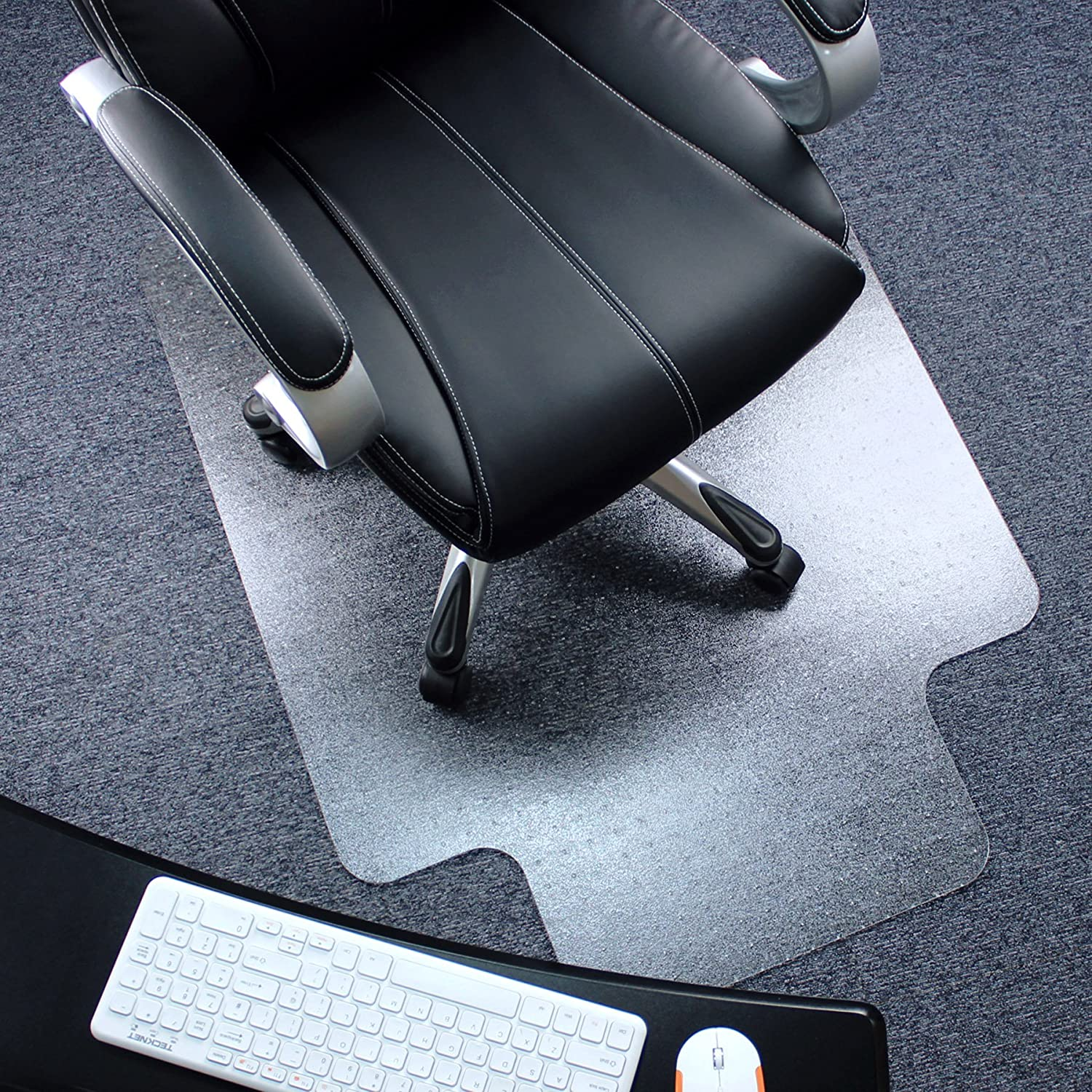 Heavy Duty Polycarbonate (PC) Lipped Chair Mat for Low, Standard and Medium Pile Carpets