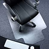 """Marvelux 36"""" x 48"""" Heavy Duty Polycarbonate (PC) Lipped Chair Mat for Low, Standard and Medium Pile Carpets 