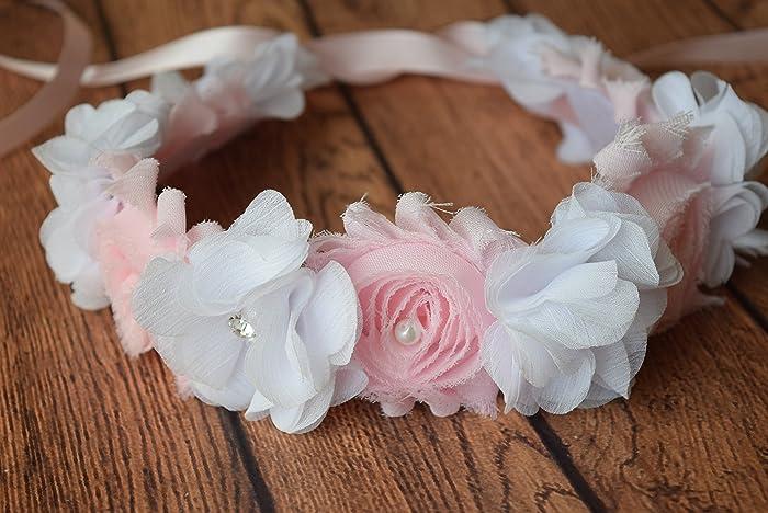 3a6cbe22b Amazon.com  white pink Baby Headband