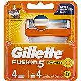 Gillette Fusion Power Men's Shaving Razor Blade Refill, 4 Pack, Mens Fusion Razors / Blades