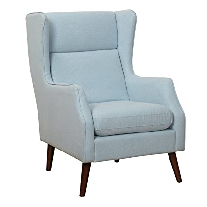 Amazon Target Marketing Systems Alana Collection Mid Century Modern High Wingback Upholstered Living Room Accent Chair Blue Kitchen Dining