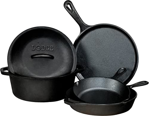 Lodge Seasoned Cast Iron 5 Piece Bundle