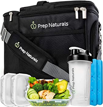 Prep Naturals Insulated Lunch Box Meal Prep Bag