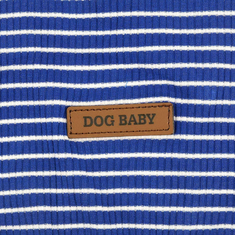 Zunea Camiseta para Perros peque/ños y Gatos Camiseta a Rayas para Verano Chaleco de Chihuahua de algod/ón Suave para Cachorros