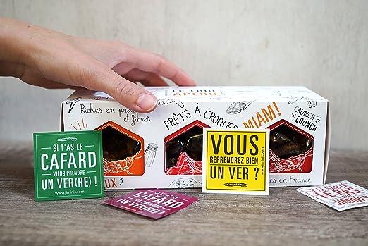 Insectos comestibles JIMINIS - 3 cajas de saltamontes sazonados - Crujiente como patatas fritas: Amazon.es: Alimentación y bebidas
