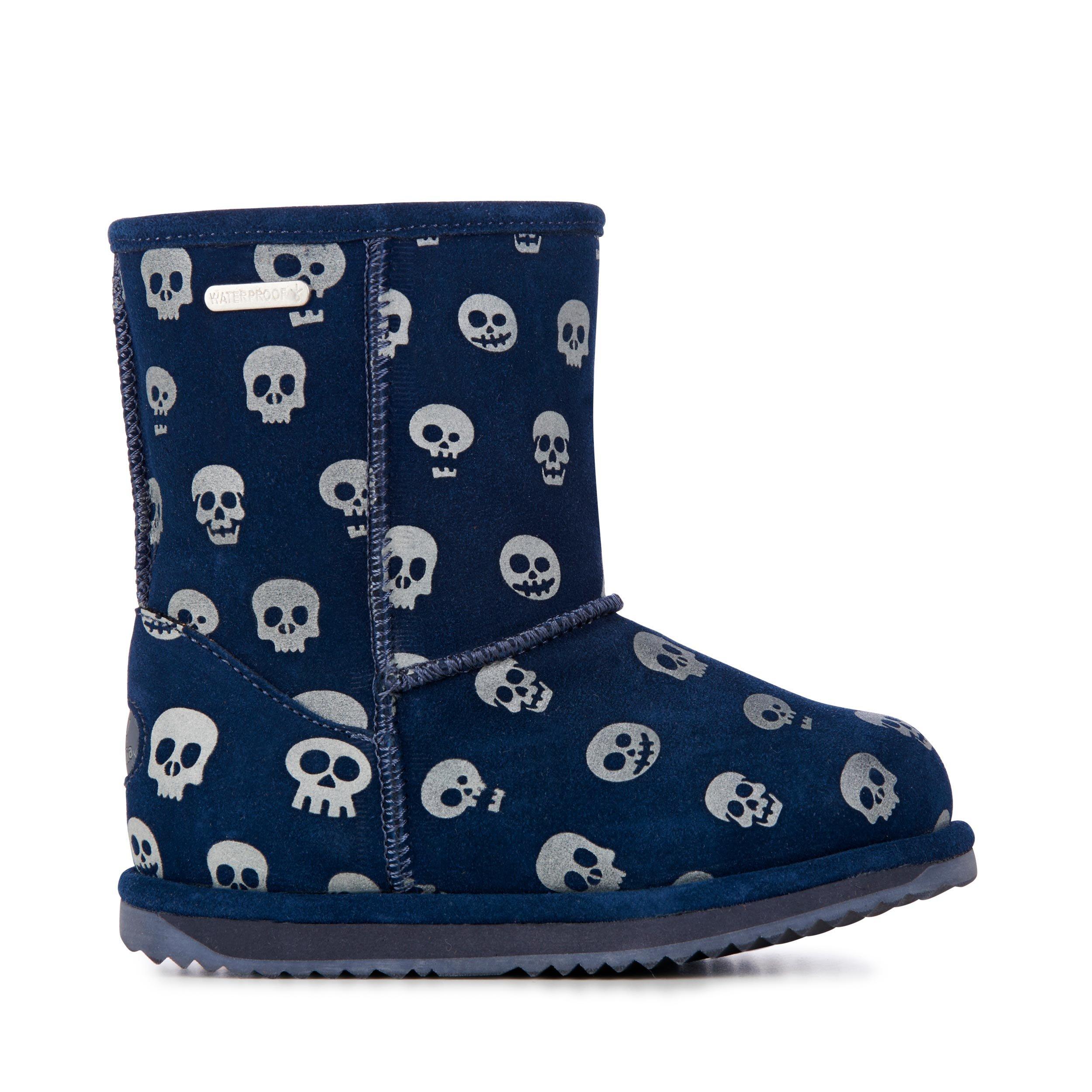 EMU Australia Skull Brumby Kids Wool Waterproof Boots Size 12