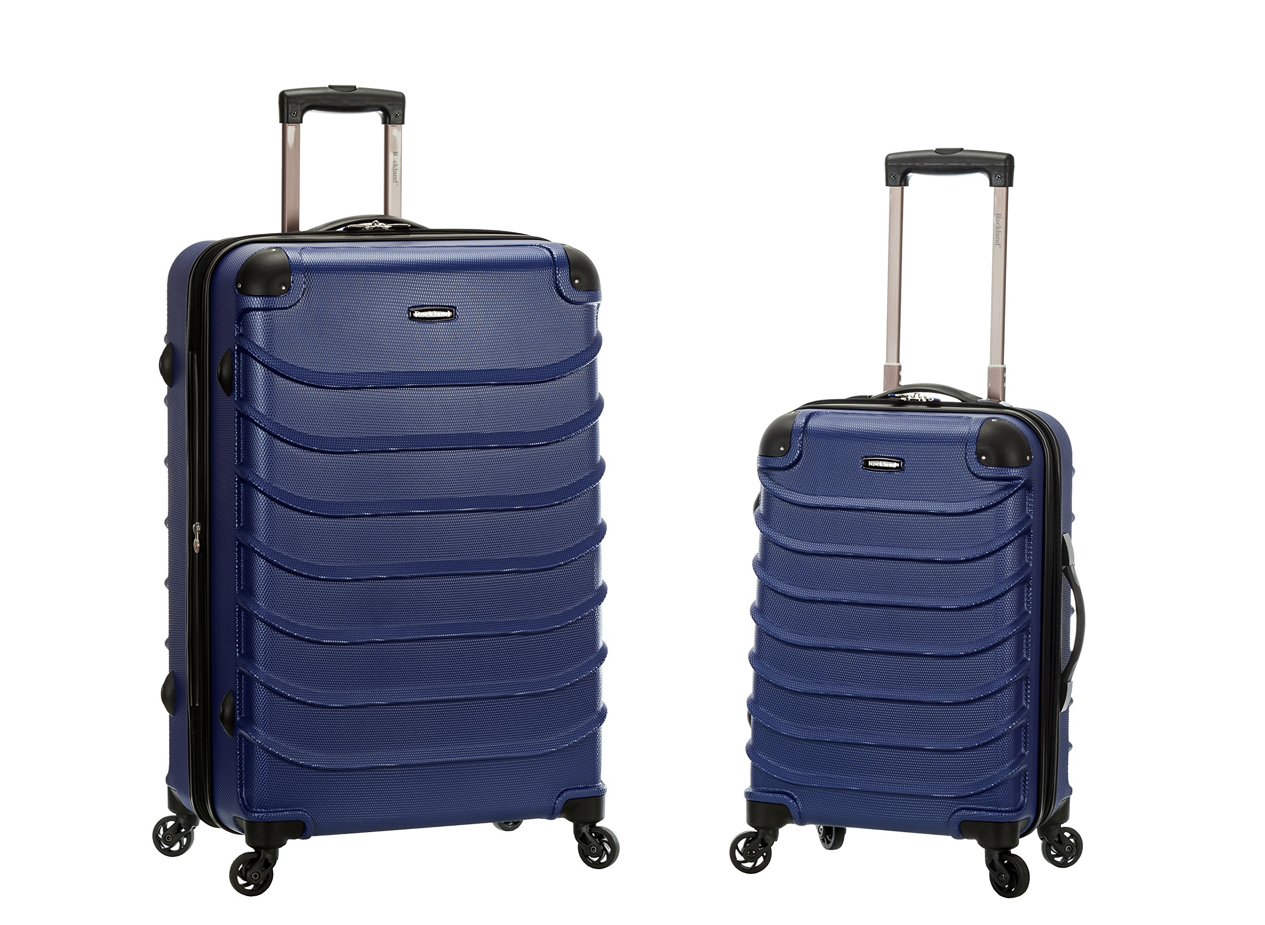 Rockland Speciale 20 Inch 28 Inch 2 PC Expandable ABS Spinner Set, Blue, One Size