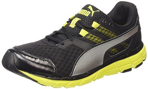 ramo de flores Tantos víctima  Buy Puma Men's Poseidon v2 Black, Sulphur Spring and Puma Silver Mesh  Running Shoes - 9 UK/India (43 EU) at Amazon.in