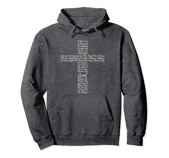 593fc025e Unisex Christian Religious Faith Hoodie Cross Of Inspiration 2XL Dark  Heather