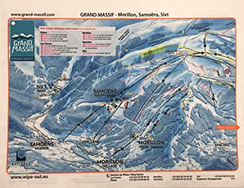 Wipeout Piste Map Lens Cloth Grand Massif Flaine: Amazon.co.uk ...