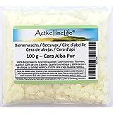 100% reine Bienenwachs Pastillen Bio, weiß, 100 g, für Kosmetik Kerzen Cremes Salben Seifen