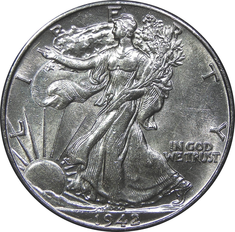 1940-1945 S Walking Liberty Half Dollar Set About Uncirculated