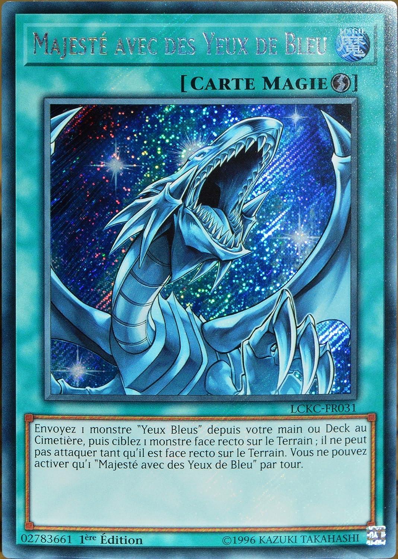 carte Yu-Gi-Oh LCKC-FR031 Majest/é avec des Yeux de Bleu