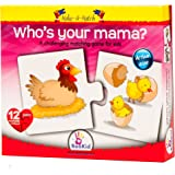 Puzzle Games For Toddlers Make a Match Who's Your Mama - Puzzle for Kids - Ages 3 + Educational Toys Puzzle For Kids