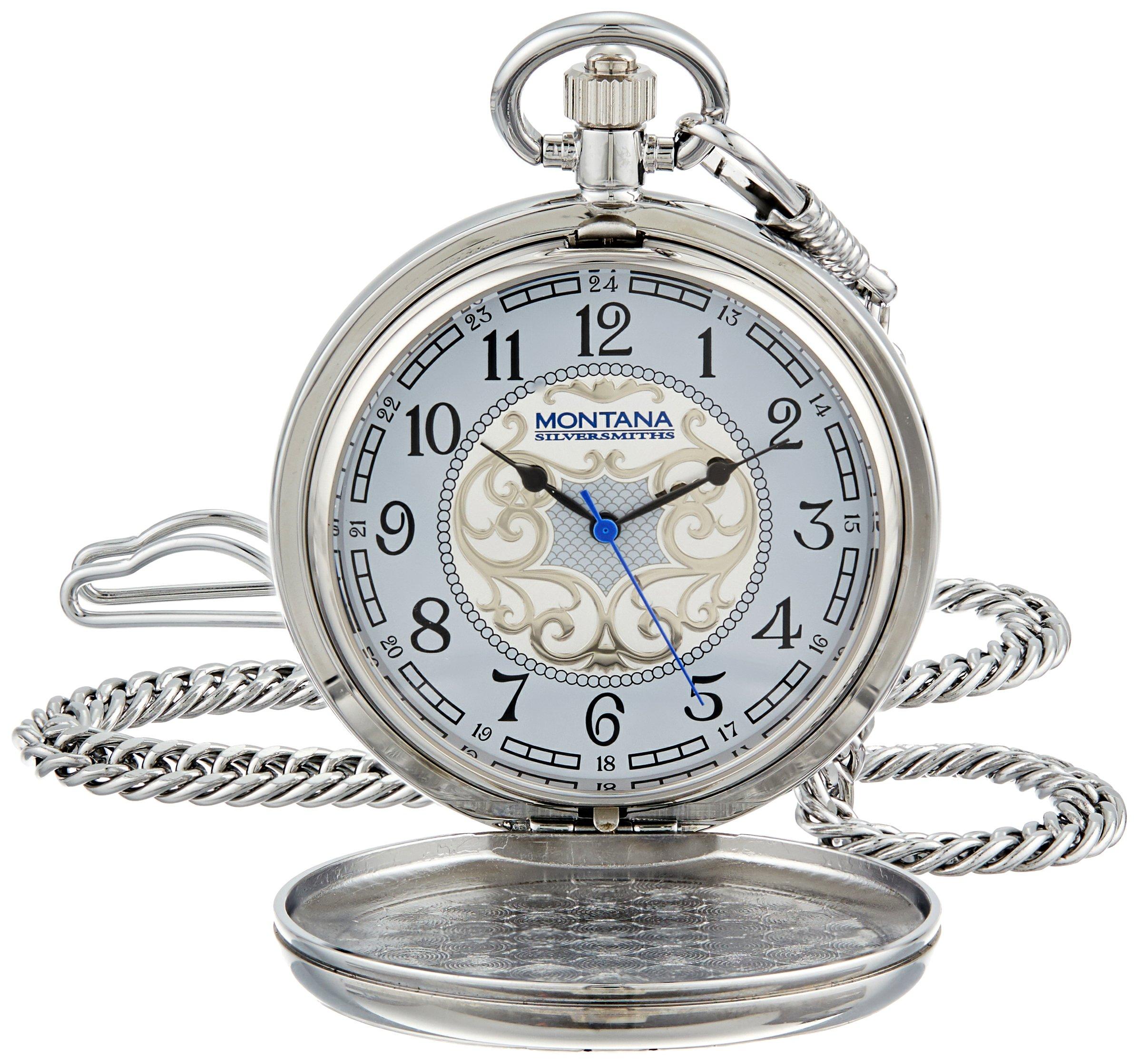 Montana Silversmiths WCHP41-447S Montana Time Analog Display Quartz Pocket Watch by Montana Silversmiths (Image #1)