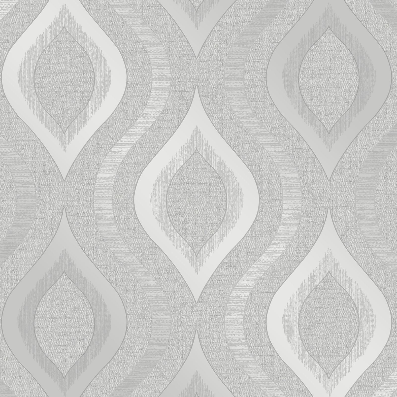 Quartz Geometric Wallpaper Silver Fine Decor FD41968