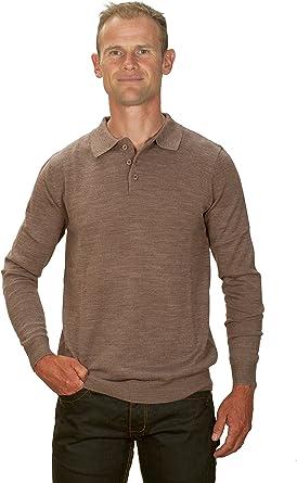 Ugholin - Jersey 50% Cashmere Cuello Polo para Hombre: Amazon.es ...