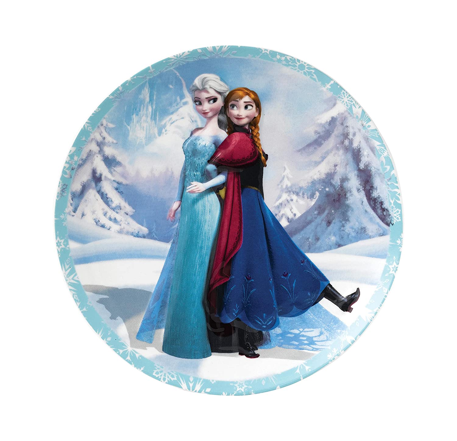 Enchanting Disney Anna and Elsa Wall Plate Enesco A27554
