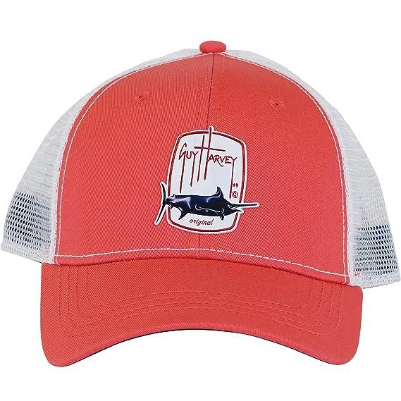385b6a38968f6 Amazon.com  Guy Harvey Trucker Barrel Roll Ball Cap One Size Red  Clothing