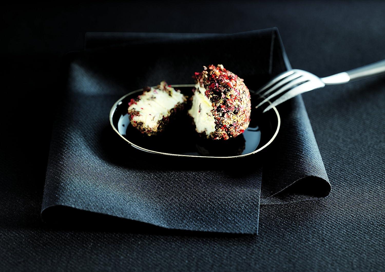 "Catering /& Party Napkins Elegant Decorative Colored Napkin 16/""x16/"", 250 Un-Folded Simulinen Dinner Black Durable Cloth Like /& Disposable"