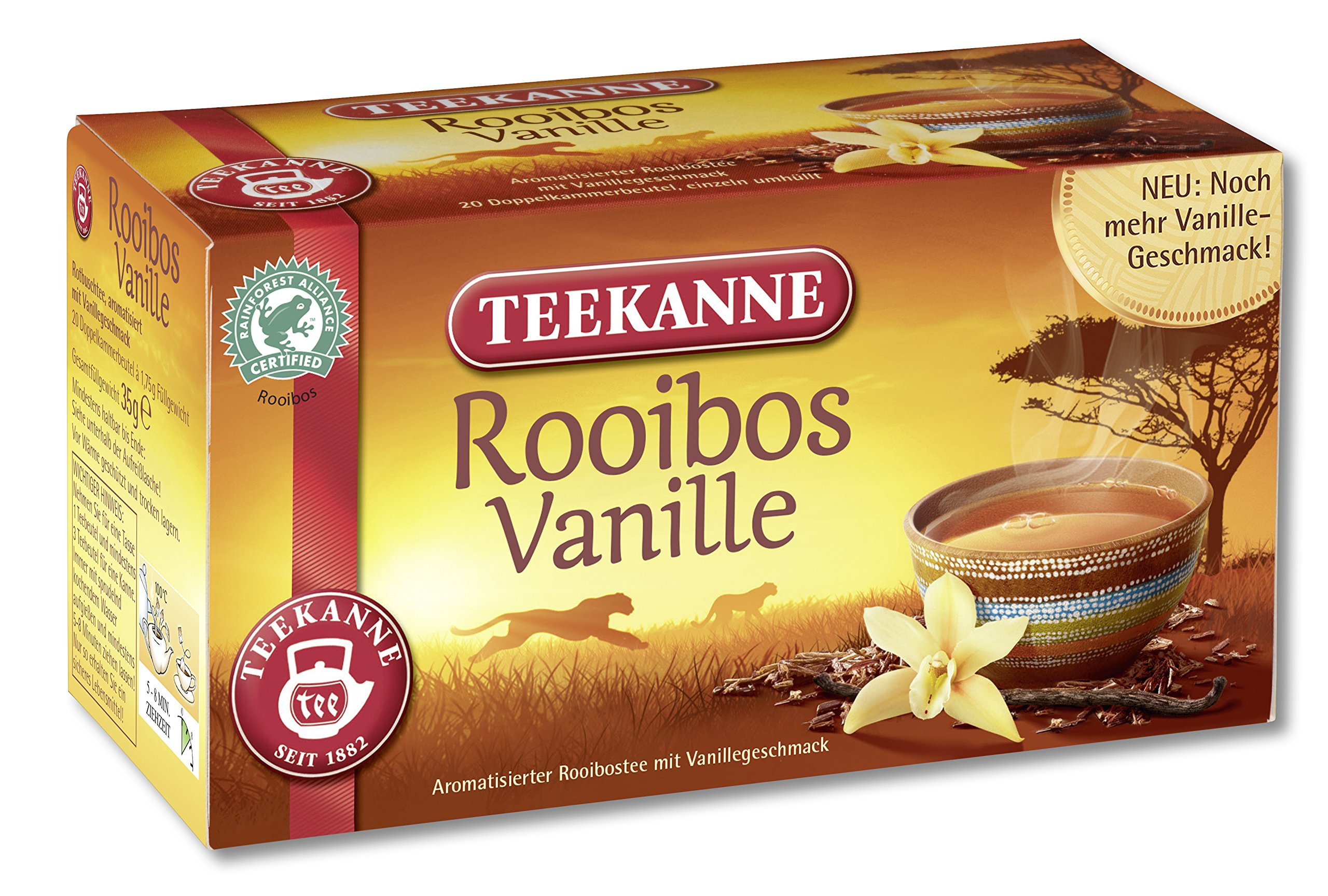 Teekanne Rooibos vanilla Tea (20 Bags) 6er Pack (6 x 35 g)