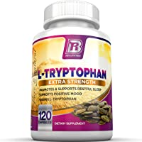 BRI Nutrition L-Tryptophan - Natural Sleep Aid Tryptophan Supplement to Encourage...