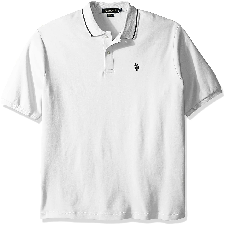 Mens Big and Tall Big /& Tall Slim Fit Short Sleeve Solid Interlock Polo Shirt Polo Assn U.S